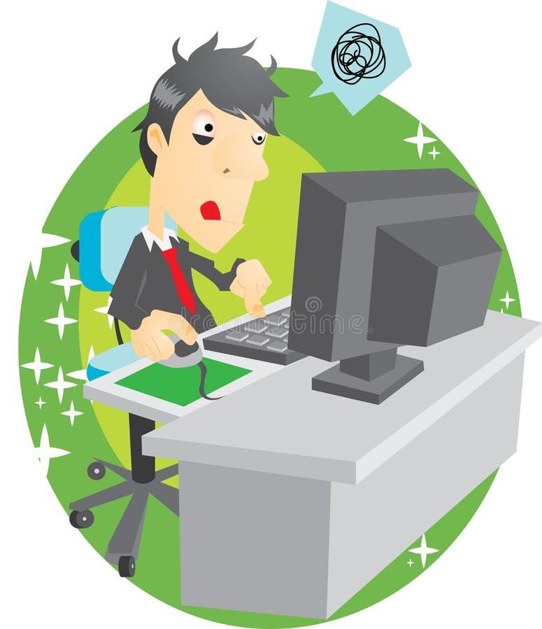 Persona dedita di calcolatore illustrazione di stock