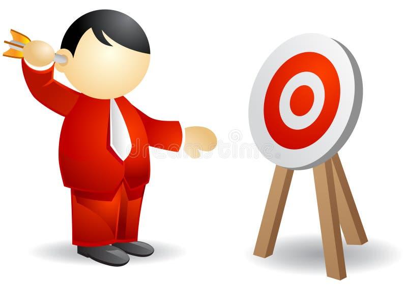 Persona del asunto - apuntando stock de ilustración