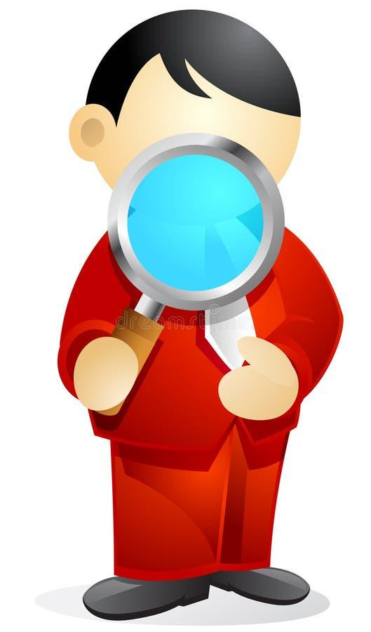 Persona del asunto - buscando ilustración del vector