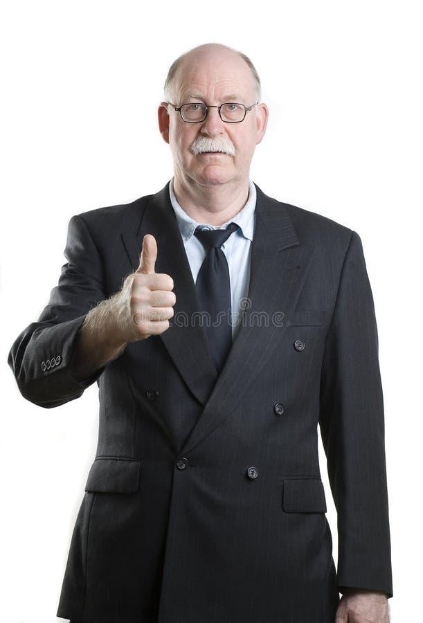 Persona del asunto que da los pulgares para arriba imágenes de archivo libres de regalías