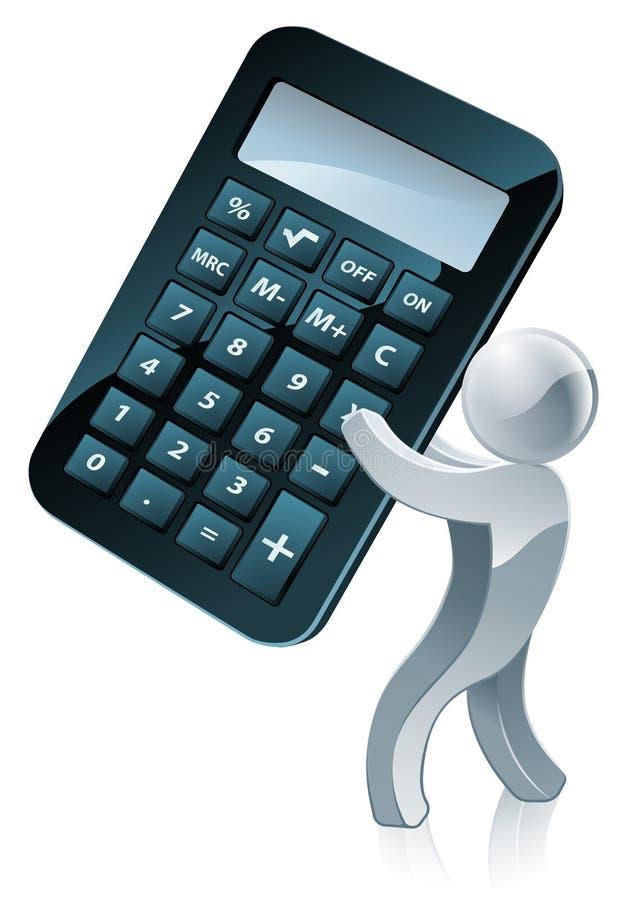 Persona del calcolatore illustrazione di stock