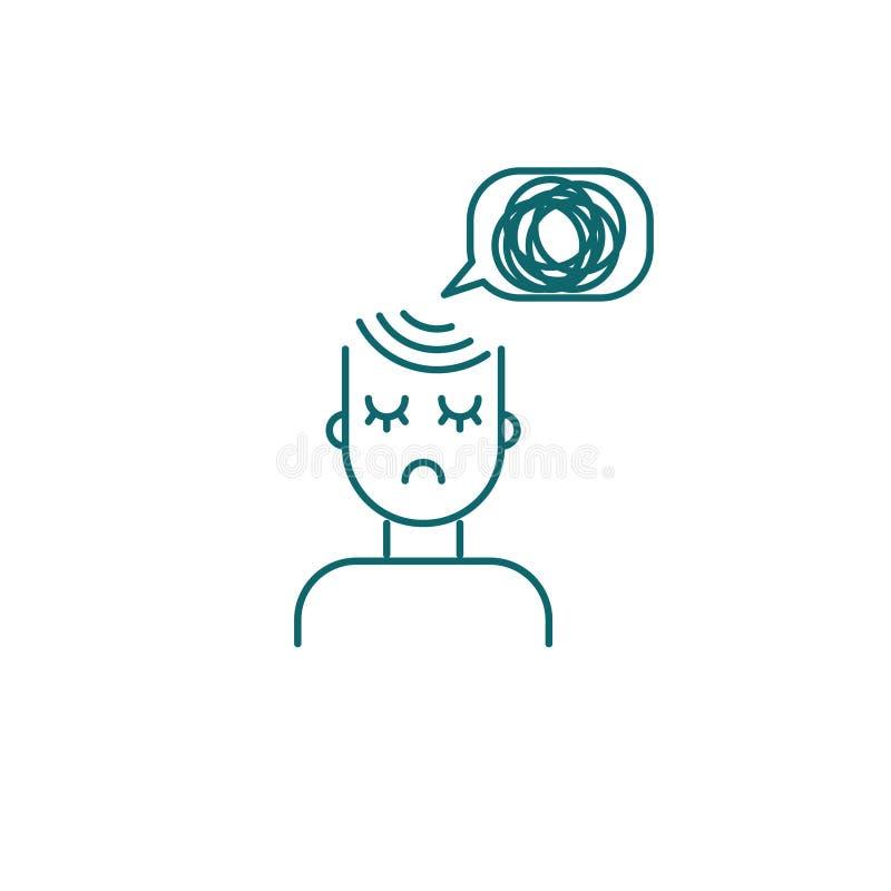 Persona deprimida, icono triste de la muchacha libre illustration