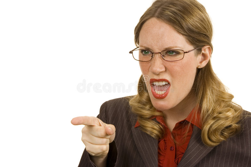 Persona di affari arrabbiata fotografie stock
