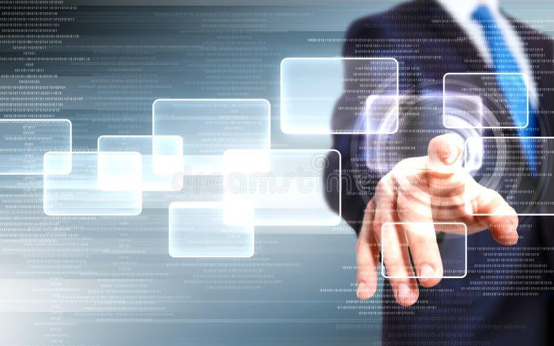 Tecnologia virtuale nell'affare immagine stock libera da diritti