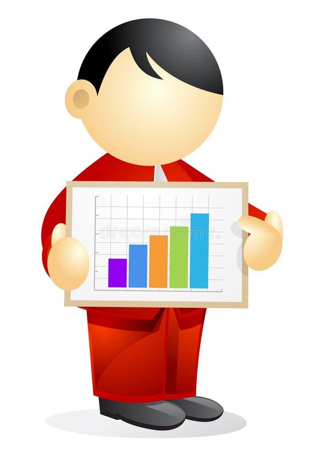 Persona di affari - mostrare un diagramma illustrazione vettoriale