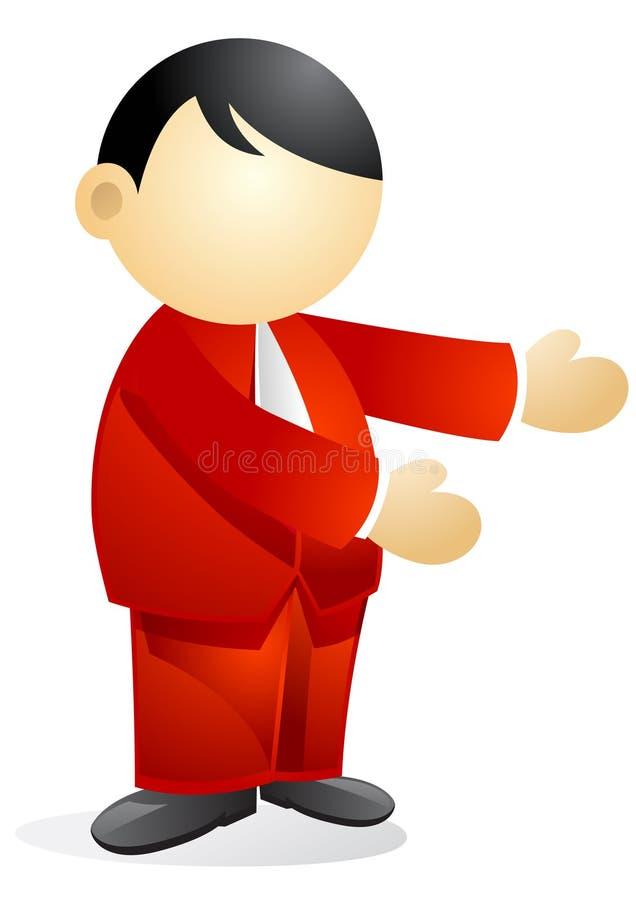 Persona di affari - presentazione illustrazione vettoriale