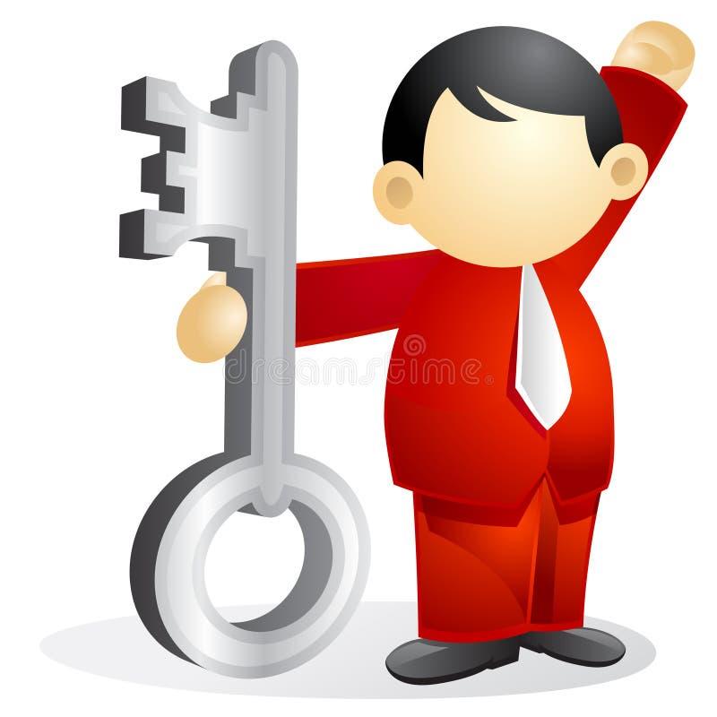 Persona di affari - tasto victorous illustrazione vettoriale