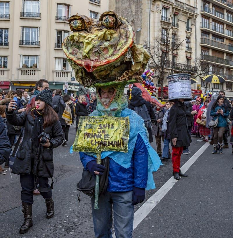 Persona disfrazada - Carnaval de París 2018 fotos de archivo libres de regalías