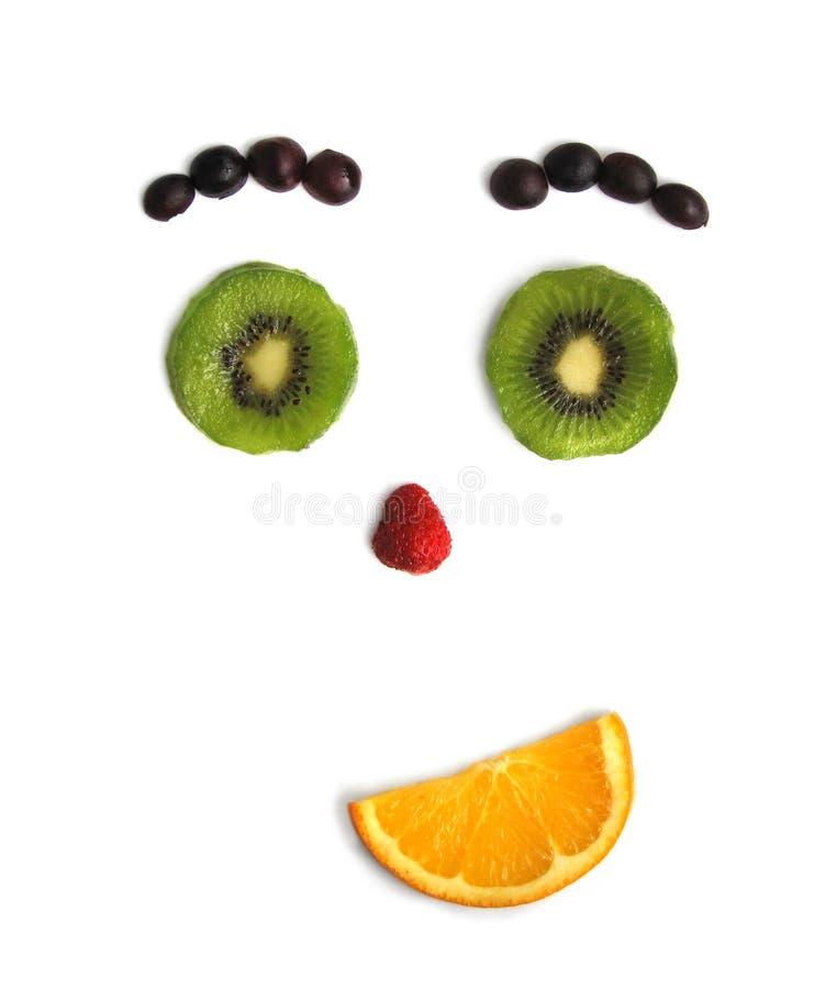 Persona divertida de la fruta fotos de archivo