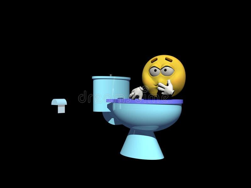 Persona enferma del Emoticon en vestido - 3d rinden libre illustration