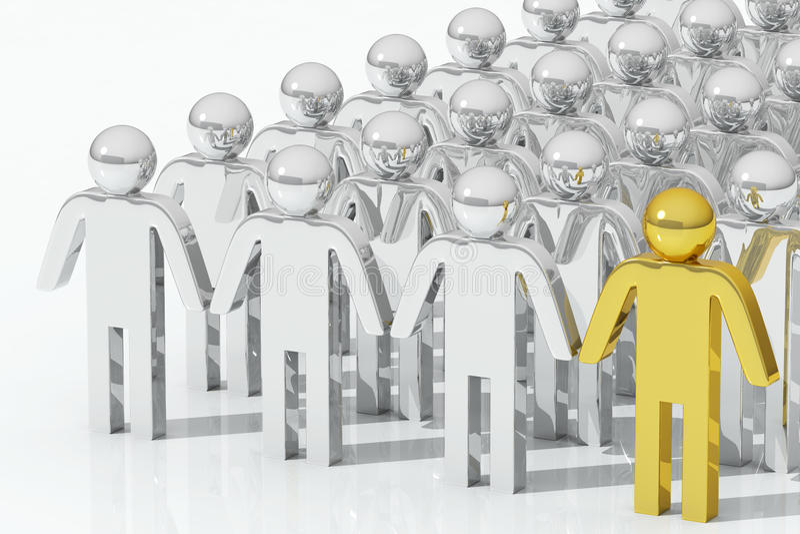 Persona excepcional del oro ilustración del vector