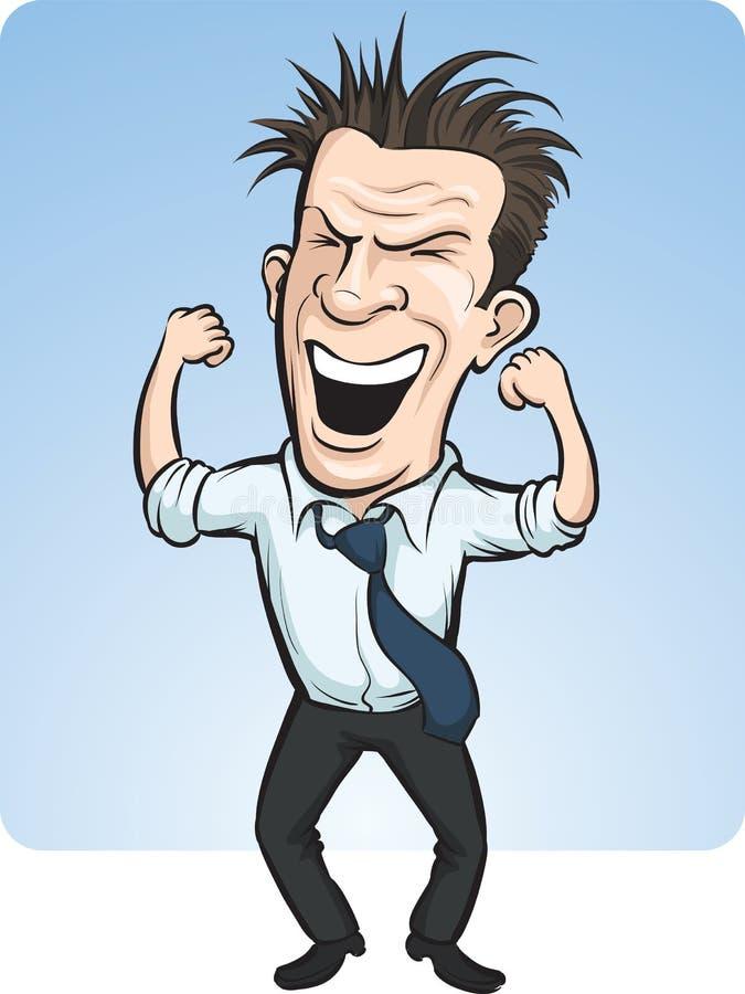 Persona incoraggiante di affari di vettore del fumetto illustrazione di stock