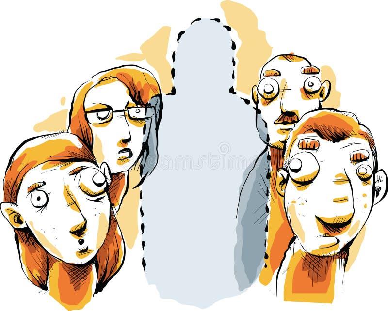 Persona invisible stock de ilustración
