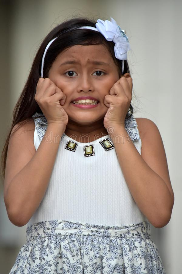 Persona joven ansiosa de la minoría fotografía de archivo