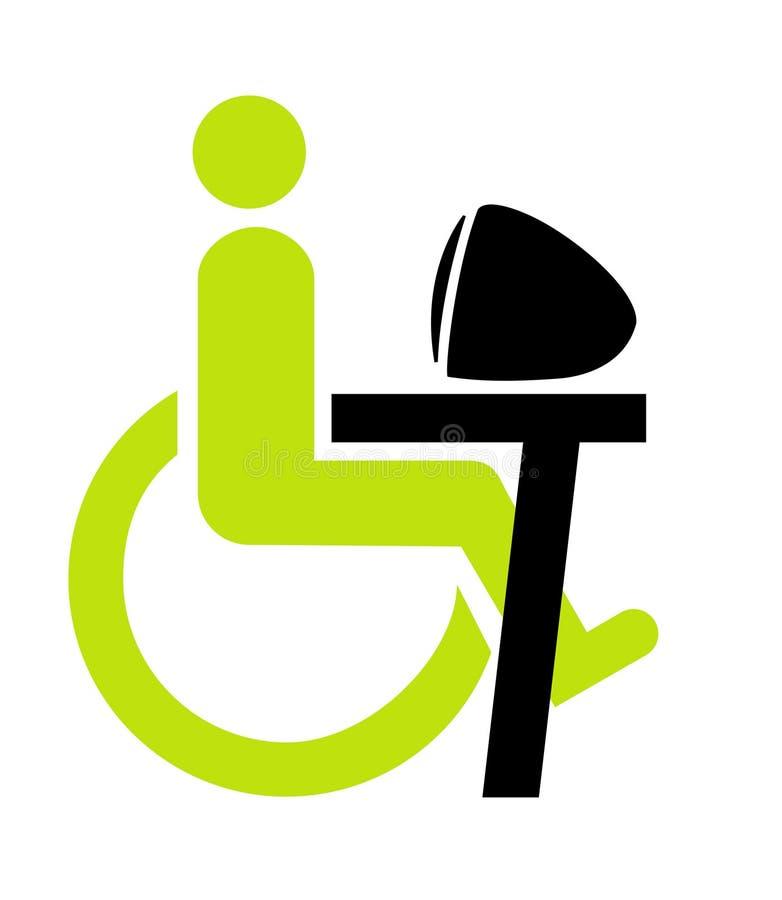Persona lisiada en la silla de rueda libre illustration
