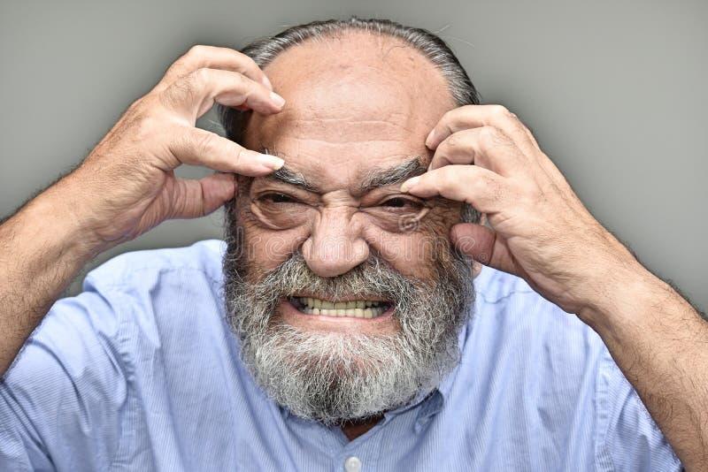 Persona masculina agotadora imagen de archivo libre de regalías