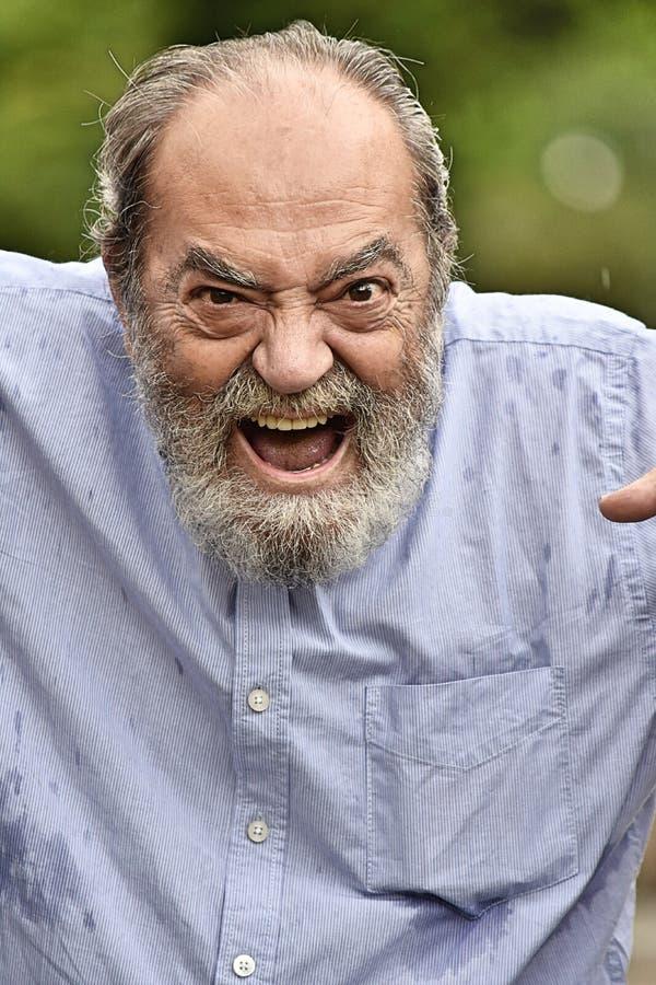 Persona mayor enojada foto de archivo libre de regalías