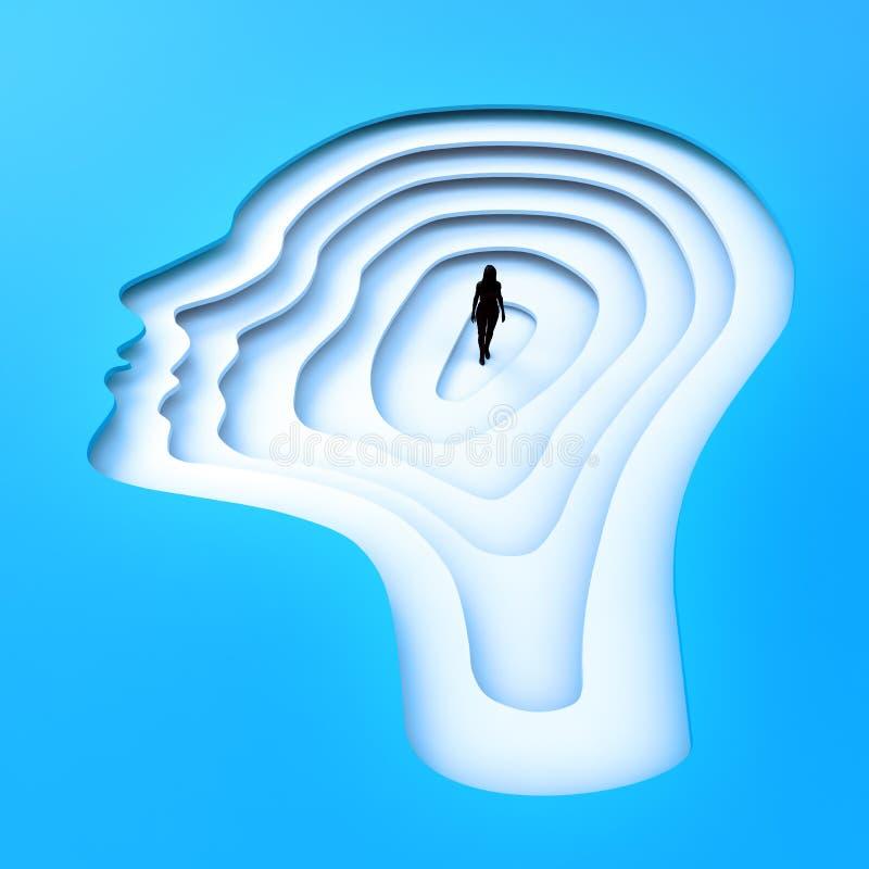 Download Persona Minúscula Que Se Coloca Dentro De Una Silueta Principal Stock de ilustración - Ilustración de ilustración, imaginación: 42432819