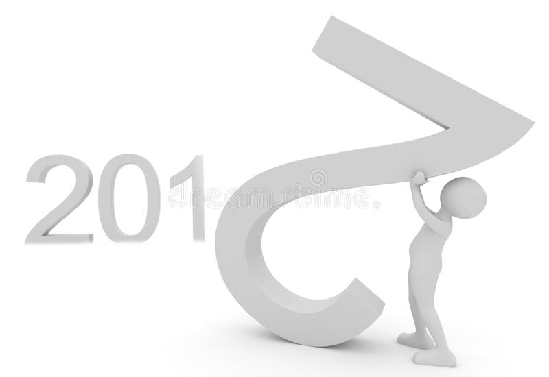 Persona que crea las fechas 2012 libre illustration