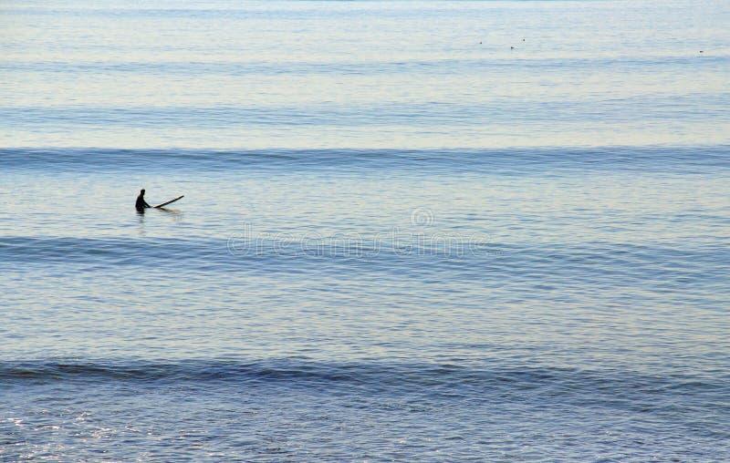 Persona que practica surf imagen de archivo libre de regalías