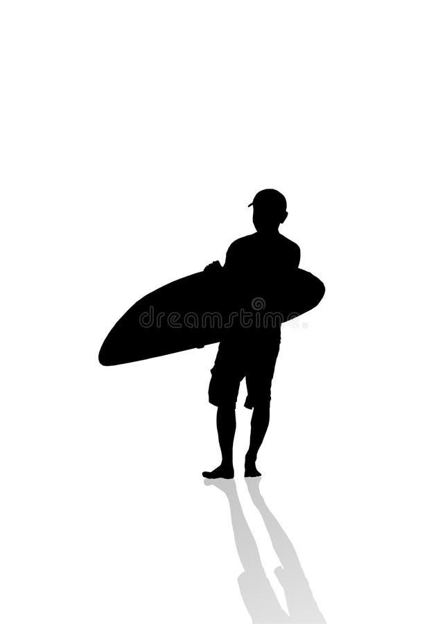 Persona que practica surf ilustración del vector