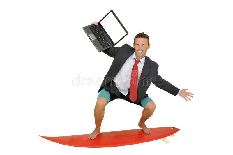 Persona que practica surf de Web fotografía de archivo libre de regalías