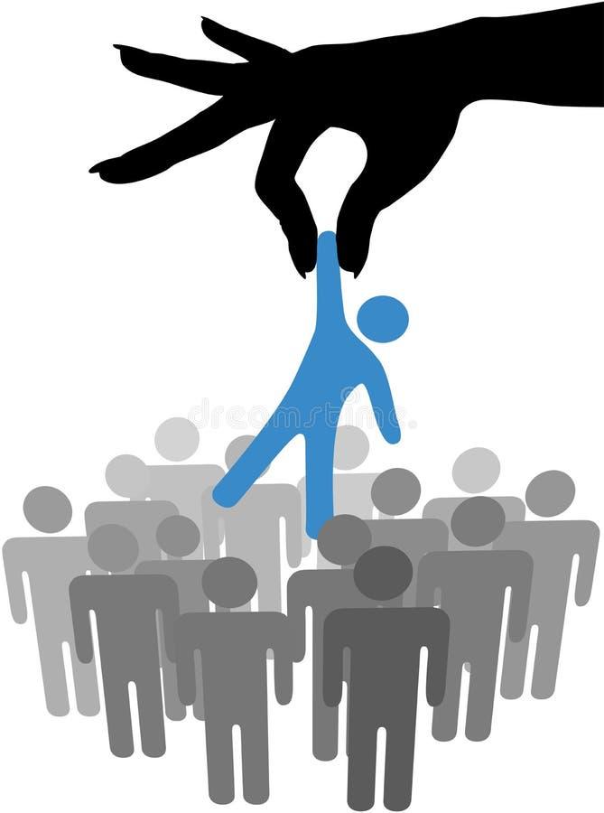 Persona selezionata del ritrovamento della mano nel gruppo della gente royalty illustrazione gratis