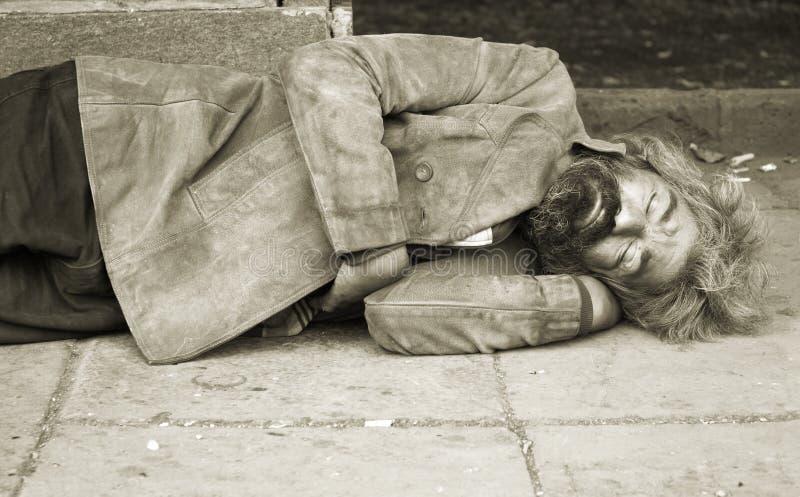 Persona senza casa fotografia stock libera da diritti