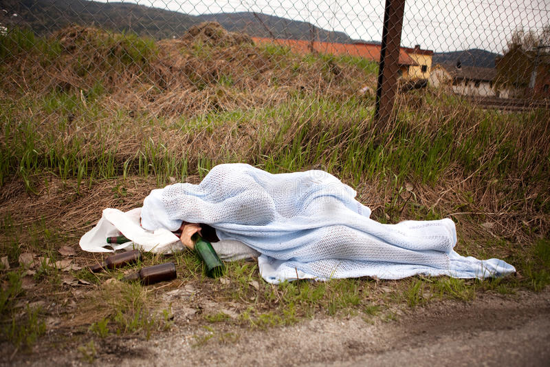Persona senza casa immagini stock
