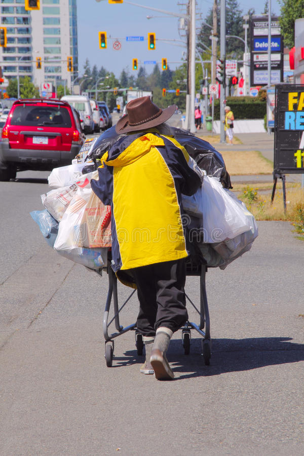 Persona sin hogar fotos de archivo