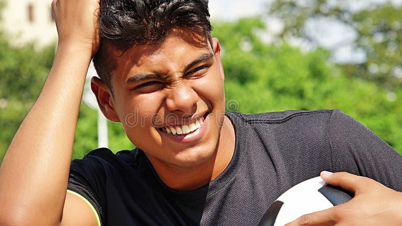 Persona subrayada del Latino foto de archivo