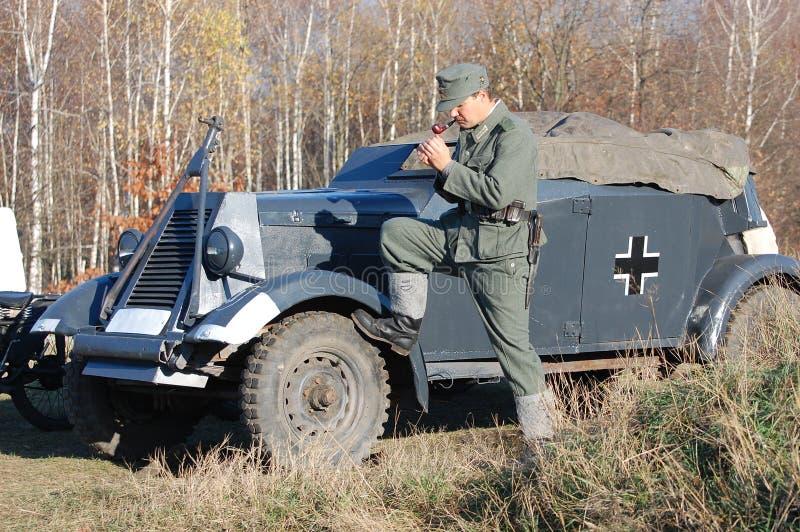 Persona in uniforme militare tedesca WW2. fotografie stock libere da diritti