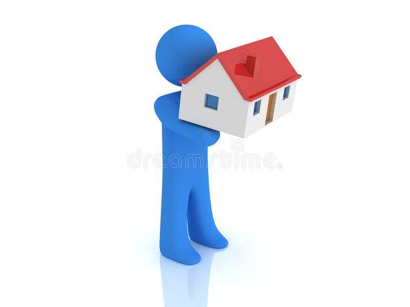 Persona y casa libre illustration