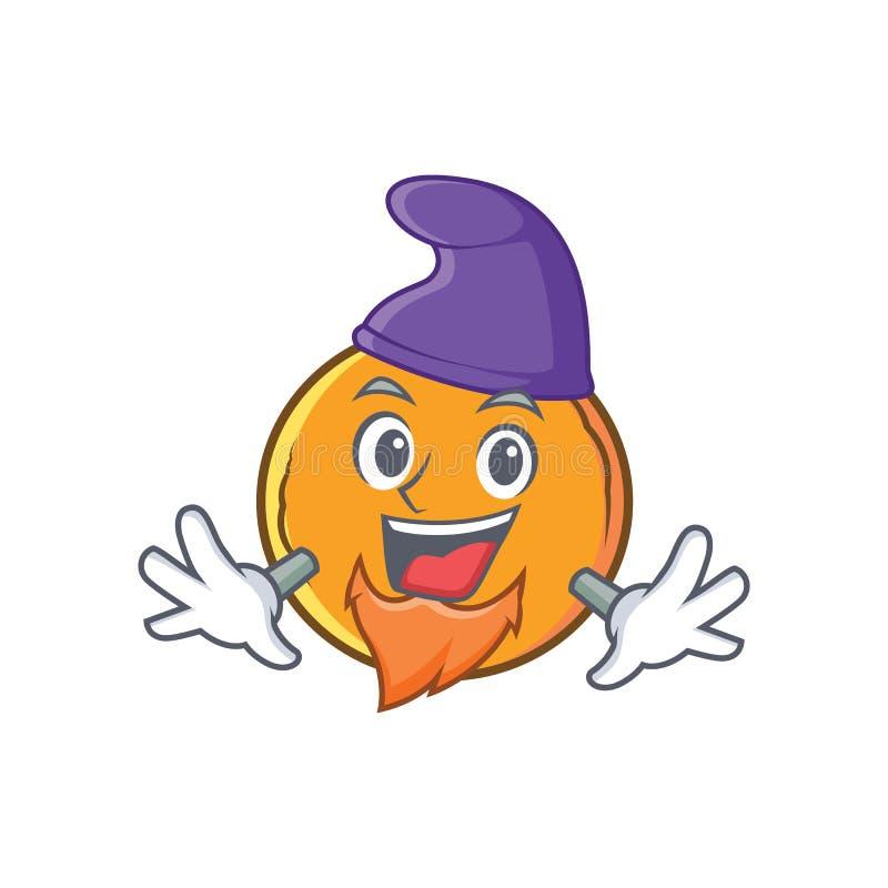 Personagem de banda desenhada alaranjado do fruto do duende ilustração do vetor