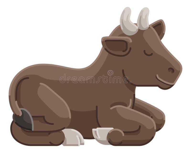 Personagem de banda desenhada animal da vaca ilustração royalty free