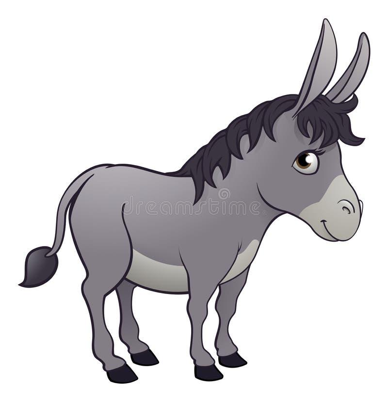 Personagem de banda desenhada animal do asno ilustração do vetor