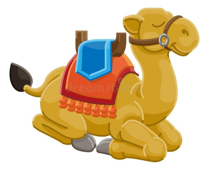 Personagem de banda desenhada animal do camelo ilustração do vetor