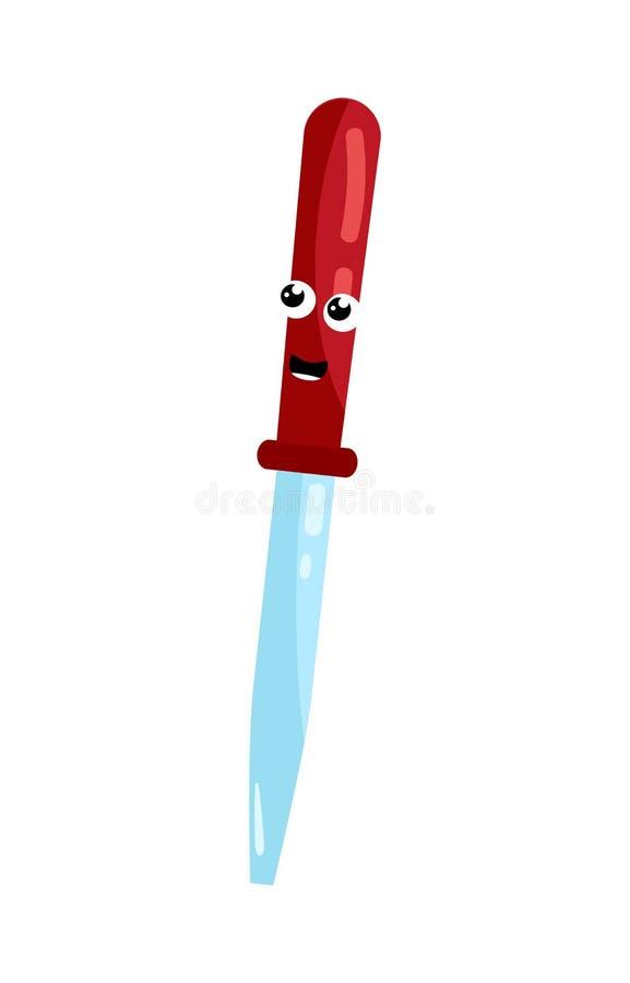 Personagem de banda desenhada bonito da pipeta médica ilustração royalty free