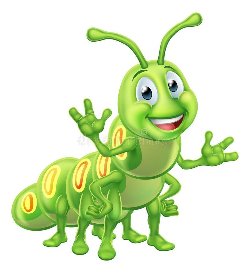 Personagem de banda desenhada de Caterpillar ilustração do vetor