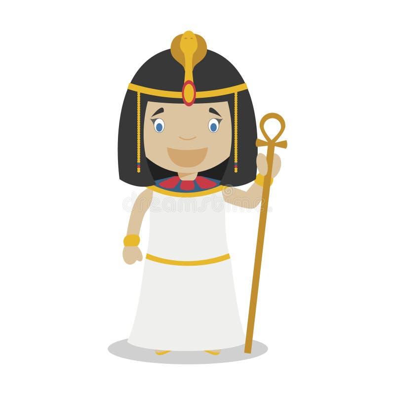 Personagem de banda desenhada de Cleopatra Ilustração do vetor ilustração do vetor