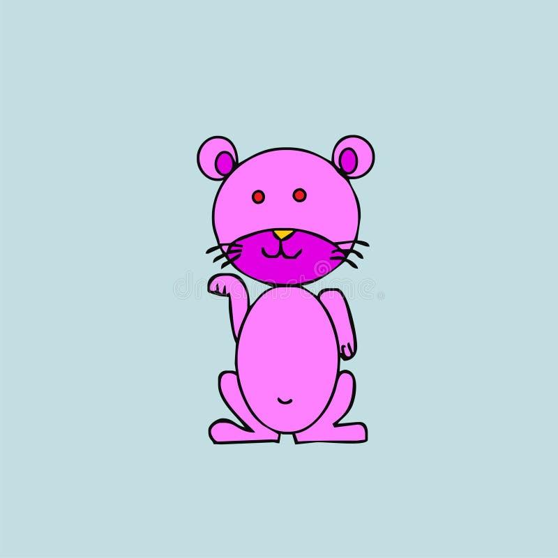 Personagem de banda desenhada cor-de-rosa do gato fotografia de stock royalty free