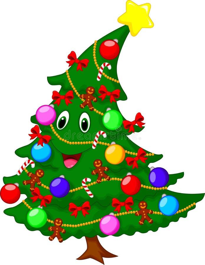 Personagem de banda desenhada da árvore de Natal ilustração stock