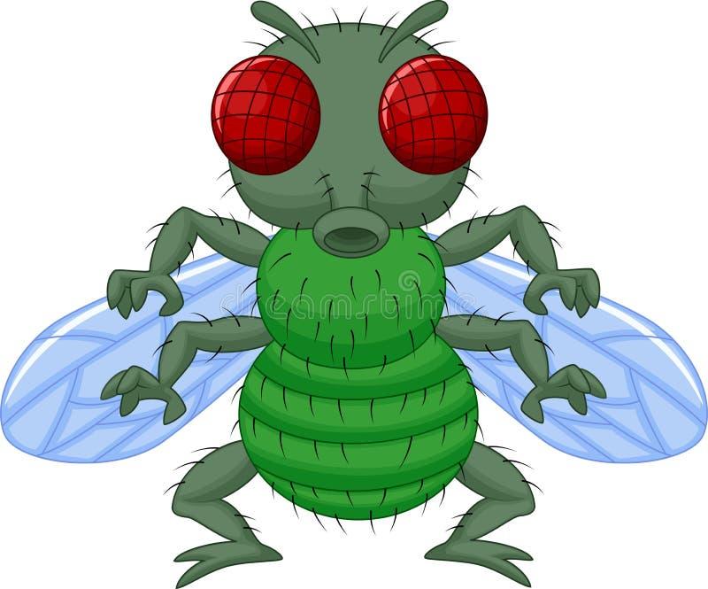 Personagem de banda desenhada da mosca ilustração do vetor