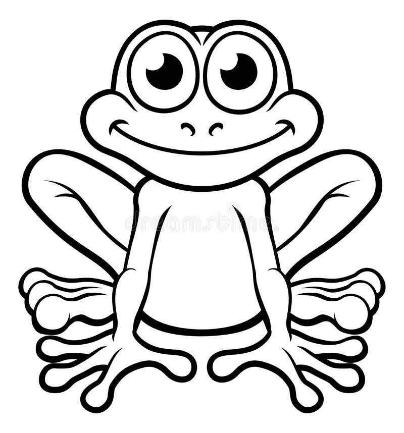 Personagem de banda desenhada da rã ilustração do vetor