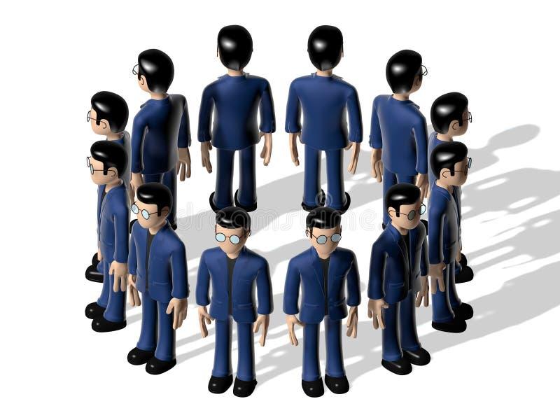 Personagem de banda desenhada do conjunto 3D ilustração stock