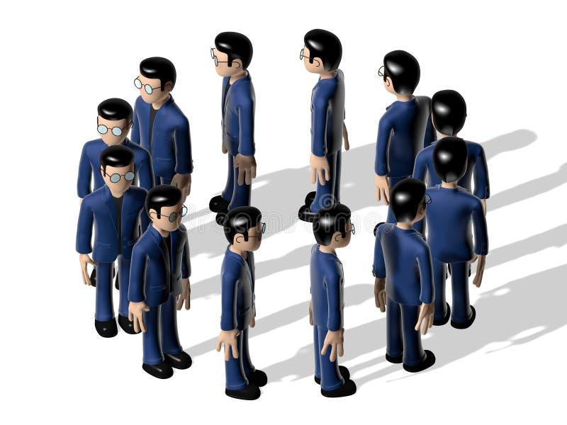Personagem de banda desenhada do conjunto 3D ilustração do vetor