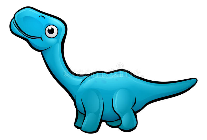 Personagem de banda desenhada do dinossauro do Diplodocus ilustração do vetor