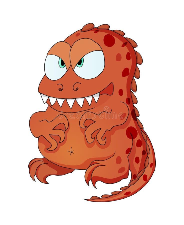 Personagem de banda desenhada do monstro do dinossauro para o cartão do feliz aniversario da criança ilustração stock