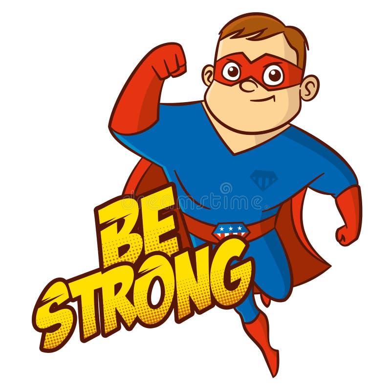 Personagem de banda desenhada do super-herói ilustração stock