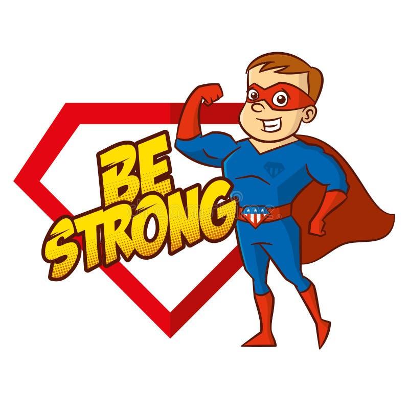 Personagem de banda desenhada do super-herói ilustração royalty free